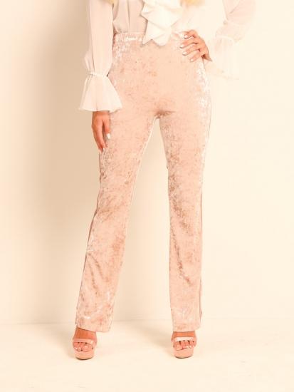 Pants Velvet Galonstreifen rosé