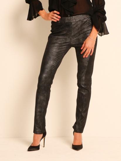 Shape Pants Faux Leder Schwarz