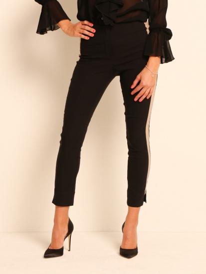 Shape Pants Classic mit Galonstreifen schwarz-beige