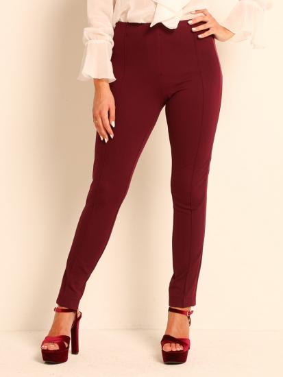 Pants Galonstreifen bordeaux