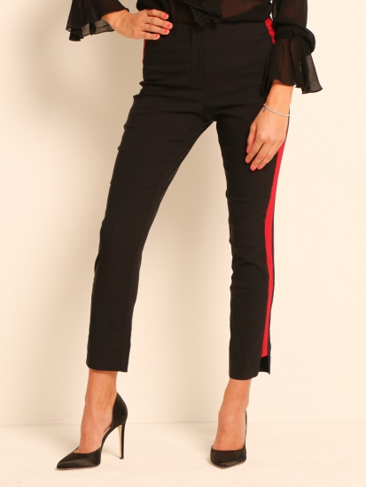 Shape Pants Classic mit Galonstreifen schwarz-rot