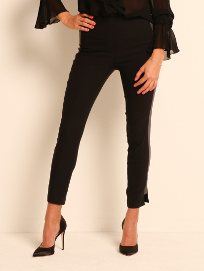 Shape Pants Classic mit Galonstreifen schwarz-grau